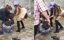 Cô gái trẻ bị túm tóc, đánh ghen ngay giữa đường vào trưa 30 Tết vì cặp kè với đàn ông đã có gia đình
