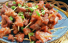 Thịt xiên làm theo cách vừa đơn giản mà lại vừa ngon