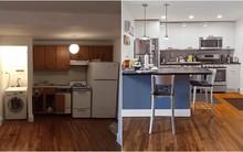 Phòng bếp vừa chật, vừa xấu