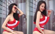 Hiền Thục tự tin khoe thân hình thon gọn với bikini ở tuổi 36