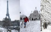 Chỉ sau một đêm, tuyết nhấn chìm Paris vào một màu trắng mộng mơ dày tới gần 18cm khiến nhiều người ngỡ ngàng