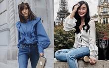 Sơmi cách điệu + quần jeans: quý cô châu Á đang khởi động mùa hè bằng combo điệu đà mà năng động này
