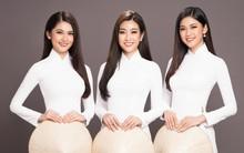 Hội ngộ để chụp ảnh áo dài sau 2 năm đăng quang, Mỹ Linh, Thùy Dung, Thanh Tú như thể