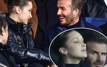 Ngồi cạnh Bella Hadid, David Beckham cực hớn hở, mải dán mắt vào người đẹp kém 21 tuổi