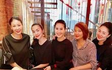 Đi ăn cùng bạn bè, Hà Tăng lại khéo léo che chắn vòng hai giữa tin đồn bầu bí?
