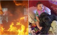 Bé gái 8 tháng tuổi thoát chết may mắn trong vụ hỏa hoạn kinh hoàng, biết danh tính