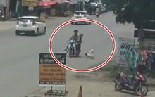 Cha mẹ bất cẩn đánh rơi con trên đường nhưng hành động sau đó mới thực sự khiến cư dân mạng bức xúc