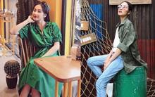 Phá cách nhất street style sao Việt tuần này chính là Hà Tăng khi mặc lại chiếc sơmi rằn ri 1 năm trước