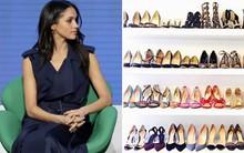 Chỉ chưa đầy 3 năm, tủ giày của Meghan Markle đã nhân lên gấp 3, ước tính giá trị lên đến hơn 2 tỷ đồng
