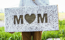 Làm tranh len độc đáo tặng mẹ nhân ngày Mother's Day