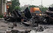 Hải Phòng: Xe container đâm nhau bốc cháy, 2 nạn nhân mắc kẹt tử vong trong xe