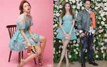 """Chiều cao khiêm tốn nhưng Minh Hằng lại thường xuyên """"đụng"""" trang phục từ siêu mẫu lại đến Bông hậu"""