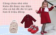 Ngày đầu tiên đi học, Công chúa nhỏ nhà Kate đã được mẹ diện cho cả bộ đồ đỏ trị giá hơn 6 triệu đồng