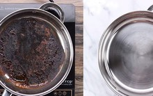 Nồi, chảo cháy đen thui thế này, chỉ cần rắc muối vào, 10 phút sau chảo sạch bất ngờ
