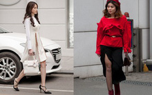 Tuần qua nắng ấm nên các quý cô Hà Thành được dịp khoe loạt street style với váy cực điệu