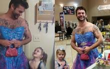 Người chú tuyệt vời mặc váy công chúa vì cháu gái
