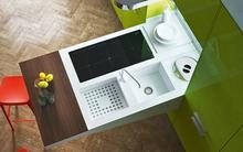 Tiết kiệm không gian cho nhà bếp nhỏ với bàn bếp đa năng