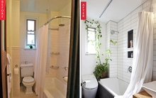 Ngỡ ngàng với sự thay đổi đến choáng váng của hai phòng tắm sau cải tạo