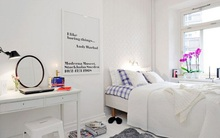 Mát mắt với những phòng ngủ được trang trí bằng sắc trắng dịu êm