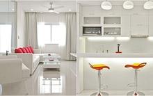 Căn hộ 95m² có duy nhất hai màu trắng và đỏ của cặp đôi trẻ ở Hà Nội