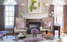 Trang trí nhà đẹp với màu tím oải hương lãng mạn và tinh tế