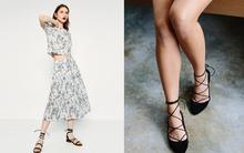 """5 gợi ý giúp kéo dài đôi chân khi diện giày bệt cùng váy ngắn dành cho nàng """"hạt tiêu"""""""