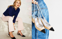 Quần ống loe diện cùng thiết kế giày/sandals nào là hợp nhất