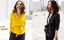 Váy áo thắt đai dịu dàng giúp các nàng đẹp nguyên cả tuần tới sở làm