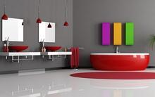 Ấn tượng với 12 phòng tắm đỏ rực đẹp mê mẩn