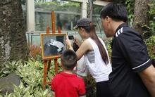 Người Sài Gòn thích thú chụp hình cùng chú hổ trắng con quý hiếm