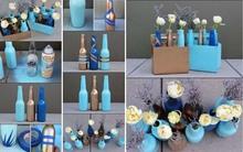 Nhà đẹp lung linh nếu biết tận dụng chai thủy tinh cũ theo 18 cách này