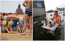 Những hình ảnh bá đạo không tưởng tượng nổi trong mùa nắng nóng ở Trung Quốc