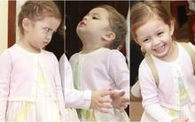 Con gái Hồng Nhung bày trò nghịch ngợm khi đi cổ vũ mẹ biểu diễn