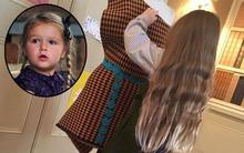 Harper giúp mẹ mặc đồ cho ma nơ canh