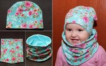 Ngày lạnh, mẹ tự may mũ và khăn ấm áp tặng bé nhé!