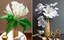 2 cách làm hoa sắc trắng đẹp tinh khôi trang trí nhà đón Tết