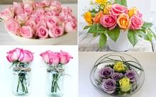 """4 cách cắm hoa hồng bạn cần thuộc """"nằm lòng"""""""
