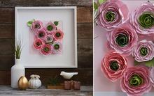 Tranh hoa giấy trang trí nhà đẹp với cách làm đơn giản