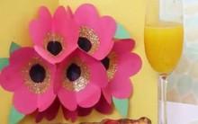 Khéo tay làm thiệp hoa 3D bung nở ai nhìn cũng mê