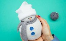 Làm người tuyết xinh xắn cực đơn giản không cần kim chỉ