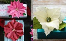 2 cách làm hoa giấy trang trí gói quà đẹp tinh tế