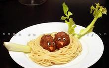 Mỳ Ý và thịt viên hình tổ chim xinh cho bé yêu ngon miệng