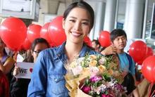 """Sau khi """"gây bão"""" tại Miss Earth, Nam Em cười rạng rỡ về Việt Nam"""