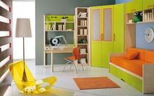 Tư vấn thiết kế phòng ngủ rộng 10 mét vuông đầy màu sắc cho bé