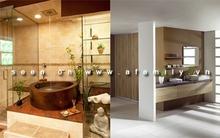Phòng tắm hấp dẫn hơn nhờ kệ thật xinh