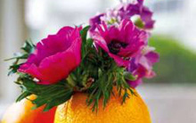 Cắm hoa độc đáo cho phòng bếp cuối tuần