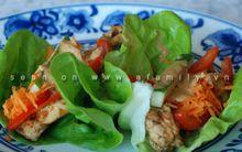 Biến tấu mới với thịt gà cho món cuốn thật ngon