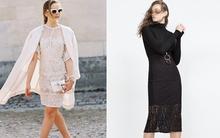 Học cách kết hợp thời thượng mà vẫn cực ấm áp với váy ren