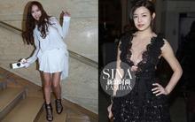 Jessica diện đồ xuề xoà tại tuần lễ thời trang Paris