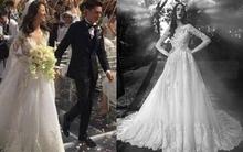 Ngắm từng chi tiết chiếc váy cưới hàng hiệu của Lâm Tâm Như